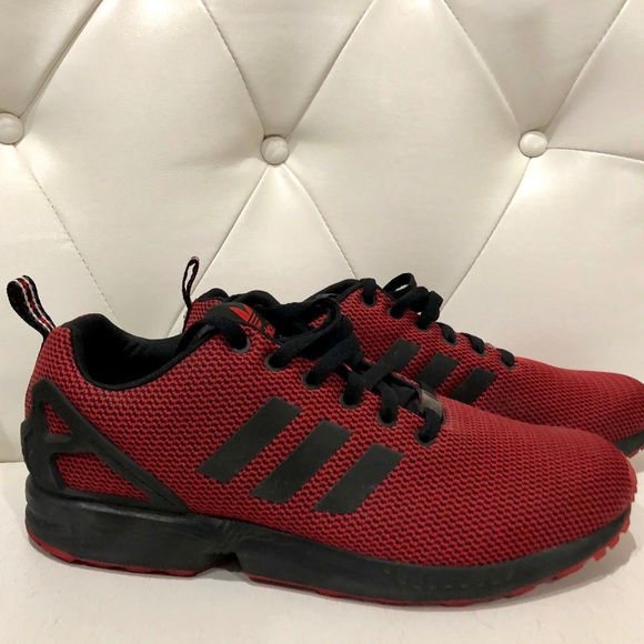 wholesale dealer 6fe83 fee1b Adidas Original ZX Flux Triple Red S75977 Size 11